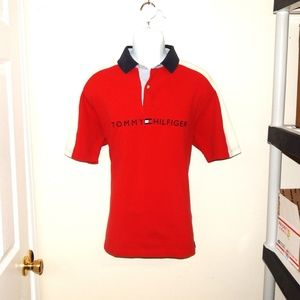 Tommy Hilfiger Mens Large Spell Out Polo Shirt